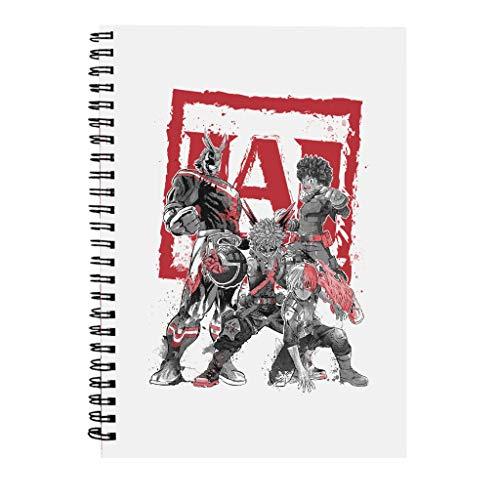 My Heroes Sumi E My Hero Academia Spiral Notebook