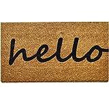 Ninamar Door Mat Hello Natural Coir – 29.5 x 17.5 inch