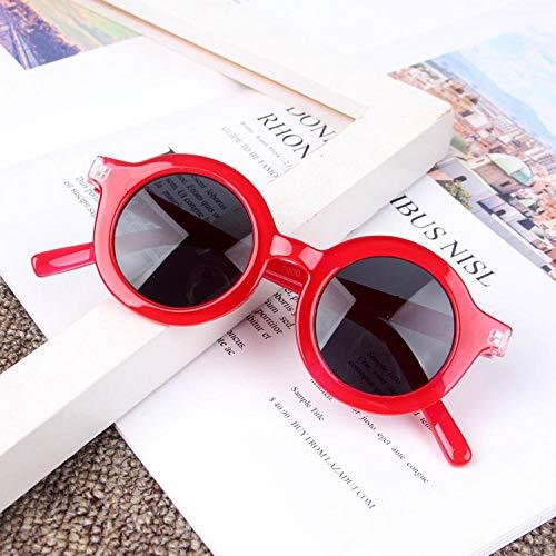Moda Gafas De Sol Nuevas Gafas De Sol Redondas Y Encantadoras para Niños Gafas para Niñas Gafas De Sol para NiñosGafas Rojo