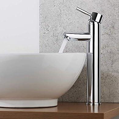 Foto di WOOHSE Elegante Miscelatore Monocomando Bagno per lavabo, in ottone cromato