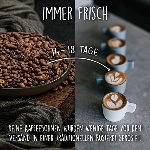 HAPPY COFFEE Bio Espressobohnen 1kg [Chiapas] I Frische fair-trade Kaffeebohnen direkt aus Mexiko I Arabica Kaffee ganze Bohnen I Ideal für Vollautomat und Siebträger - 4