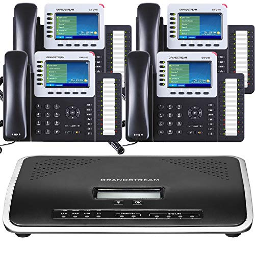 Business Phone System: Ultimate Pack with Auto Attendant, Voicemail, Cell & Remote Phone Extensions,...