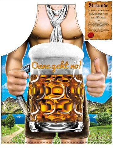 Veri  Erotische Geschenke Grillschürze Biertrinker Oane geht no! Lederhose in Bestform mit Urkunde one size