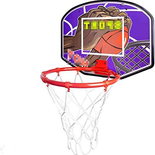 MHCYKJ Basketballkorb-Set für Kinder, drinnen und draußen, zum Aufhängen an der Tür, als Geschenk, für Jungen und Mädchen, Teenager, Erwachsene, mit Ballpumpe, Sportspielzeug zum Aufhängen (Größe S: