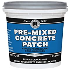 It can also be used to bond broken pieces of concrete Great for repairing deteriorated mortar joints Pre-Mixed Concrete Patch is not recommended for surfaces subject to vehicle traffic Packaging may vary