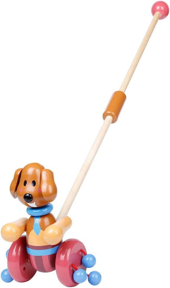 RUYU Loyal Puppy Wooden online shop Push-n-Pull Toy with Walking Ranking TOP16 Co Activity