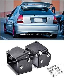 Extreme Online Store for 1996-2000 Honda Civic Hatchback EK9 Models | EOS Type-R Spoiler JDM CTR Wing Riser Alex Tilt Mount Bracket (Anodized Black)