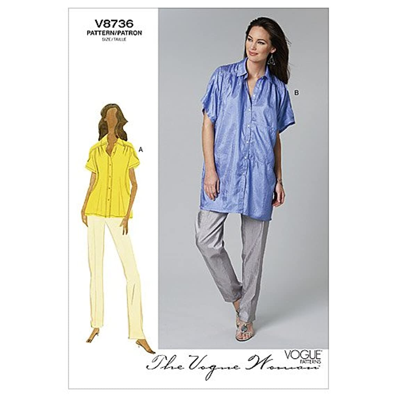 Vogue Patterns V8736 Misses' Shirt and Pants, Size BB (8-10-12-14)