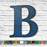 Metal Letter B - 8', 12', 16', 22', 25', 30' or 35' tall inch tall - Handmade metal wall art - Choose your...