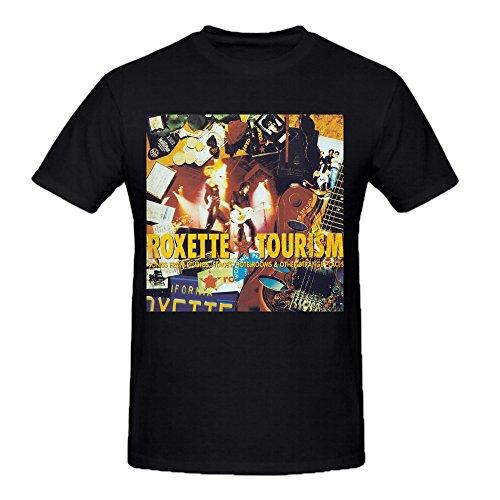 Roxette Tourism T Shirts for Herren Crew Neck Medium