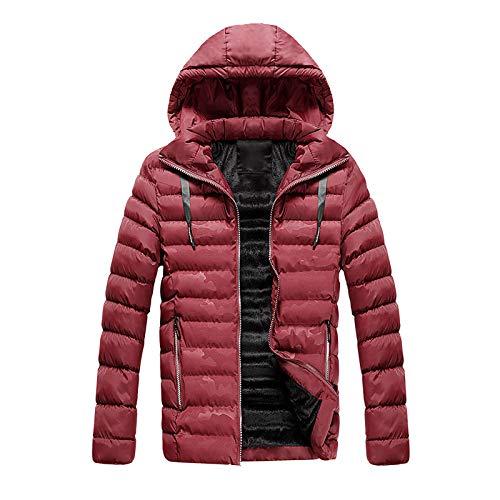 Herren Steppjacke Daunenjacken Kapuze Gefütterte sportliche Winterjacke warme robuste Übergangsjacke Jacke für Männer Gesteppte Bomberjacke Übergangsjacke Steppjacke