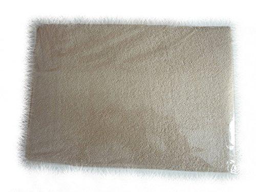 BlueberryShop 2-delige badstof hoeslaken voor peuter/babybedje 140 cm x 70 cm, Beige