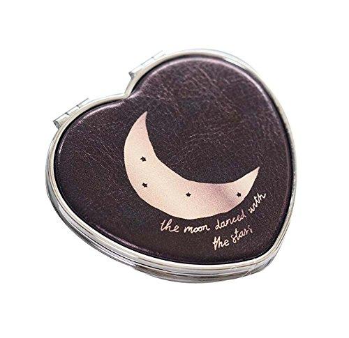 Mignon miroir miroir maquillage simple miroir, lune