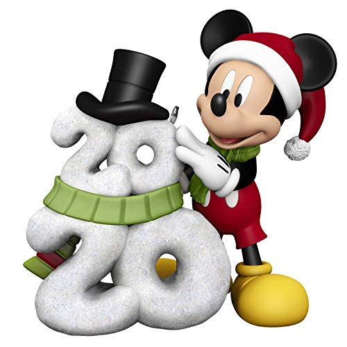 Hallmark Keepsake Christmas Ornament 2020 Year-Dated, Disney Mickey Mouse A Year of Disney Magic Snowman