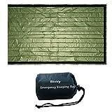 Ajing bolsas de dormir dobles para camping, supervivencia dormir Bivy, bolsa de emergencia PE película de aluminio para acampar al aire libre y senderismo con bolsa de almacenamiento