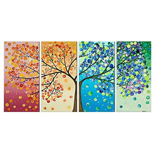 Q&M Lienzo Imagen Arte Pared Ilustración Vida árbol