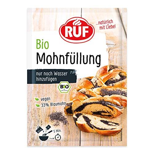 RUF Bio Mohnfüllung vegan aus Blaumohn schnell mit Wasser angerührt, 150 g