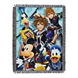 Disney's Kingdom Hearts, 'Ready for the Road' Woven Tapestry Throw Blanket, 48' x 60', Multi Color