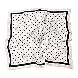 HIDOUYAL - Pañuelo cuadrado de poliéster con diseño de lunares, 70 x 70 cm Polka Dots 7 Talla única