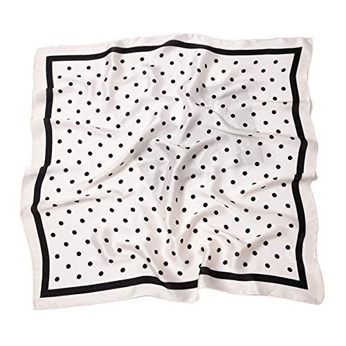 HIDOUYAL Grande Foulard Carré Polyester Carreaux Polka Dots 70 X 70cm (polka dots 7),Taille unique,Beige