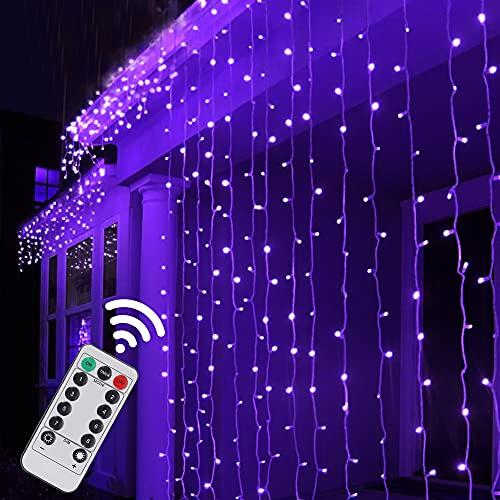 Twinkle Star 300 LED Halloween Window Curtain String Light...