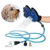 Jukkre Remove Pet Bathing Sprayer Scrubber Massage Brush Hair Grooming Tool Glove