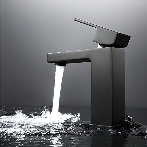 Grifo De Lavabo Negro Piant Asado, Grifo Mezclador De Agua Fría Y Caliente Para La Cocina Y El Baño