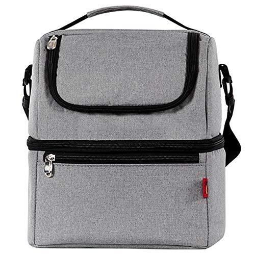 Yi-xir classic design Bolsas de almuerzo térmico simple y elegante Caja de almuerzo térmico para niños bolsa de comida bolsa de picnic bolso de bolso refrigerador de almuerzo aislado Lightweight and d