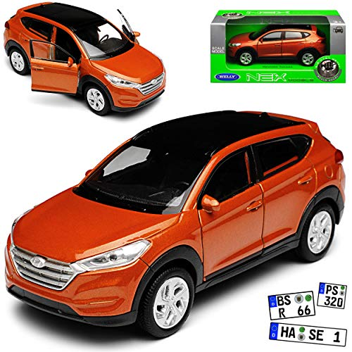 Welly Hyundai Tucson TL SUV Kupfer Orange 3. Generation Ab 2015 ca 1/43 1/36-1/46 Modell Auto mit individiuellem Wunschkennzeichen