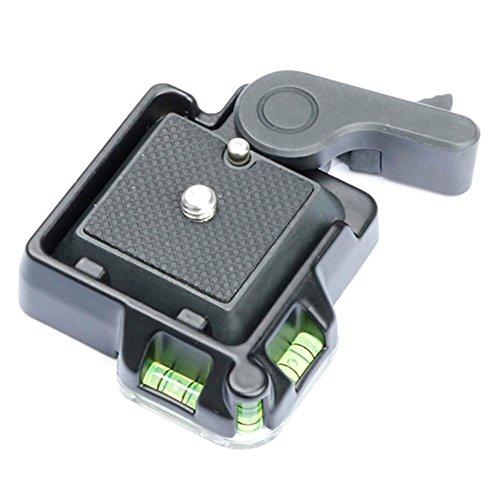 Rokoo Kamera Camcorder Schnellwechselplatte Clamp Adapter mit Platte Doppel-Versicherung für DSLR Stativ Monopod Kugelkopf