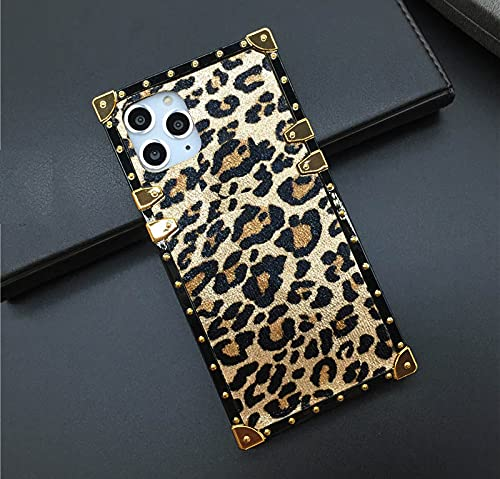 A32 5G for Samsung Galaxy A32 5G (not fit A32 4G) Case,Luxury Design Cute Glitter Bling Leopard Print Square Protection…
