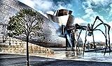SHILIHOME Museo Guggenheim Bilbao Pintura por números DIY Único