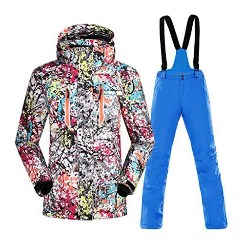 Ski-pak voor dames, ski-jas en broeken, set van 2, winddicht, ademend, snowboard-coverall outfit, grote versnelling voor de winter