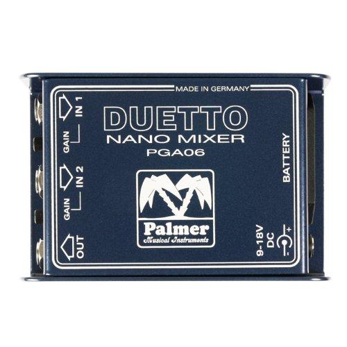 Palmer Duetto Nano Mixer Para Guitarras y señales de línea