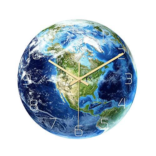 Belleashy - Reloj de pared para niños (cuarzo, para decoración de oficina en el hogar, reloj del profesor Easy Learn Time