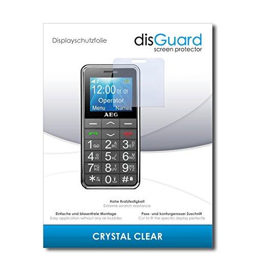 disGuard® Bildschirmschutzfolie [Crystal Clear] kompatibel mit AEG Voxtel SM250 [2 Stück] Kristallklar, Transparent, Unsichtbar, Extrem Kratzfest, Anti-Fingerabdruck - Panzerglas Folie, Schutzfolie