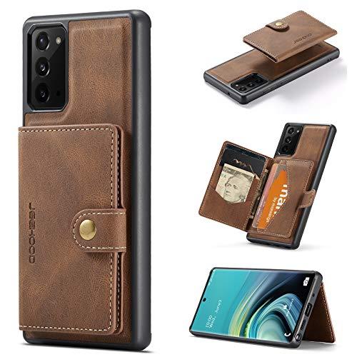 Schutzhülle für Samsung Galaxy Note 20 Ultra 5G, Leder, 17,5 cm (6,9 Zoll), mit Magnetverschluss, Braun