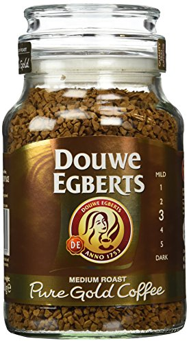 Douwe Egberts Pure Gold Instant Coffee, Medium Roast (Pack Of 2)