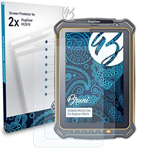 Bruni Schutzfolie kompatibel mit RugGear RG910 Folie glasklare Displayschutzfolie 2X