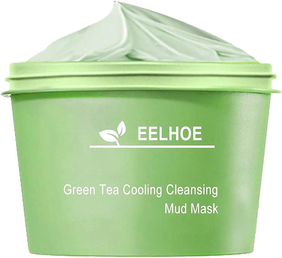Bumplebee Grüner Tee Purifying Clay Stick Mask Gesichtsmaske, Stick Deep Cleansing Ölkontrolle Anti-Akne-Maske Fine Solid Mask Green Tea, Mitesserentferner Poren Schrumpfen
