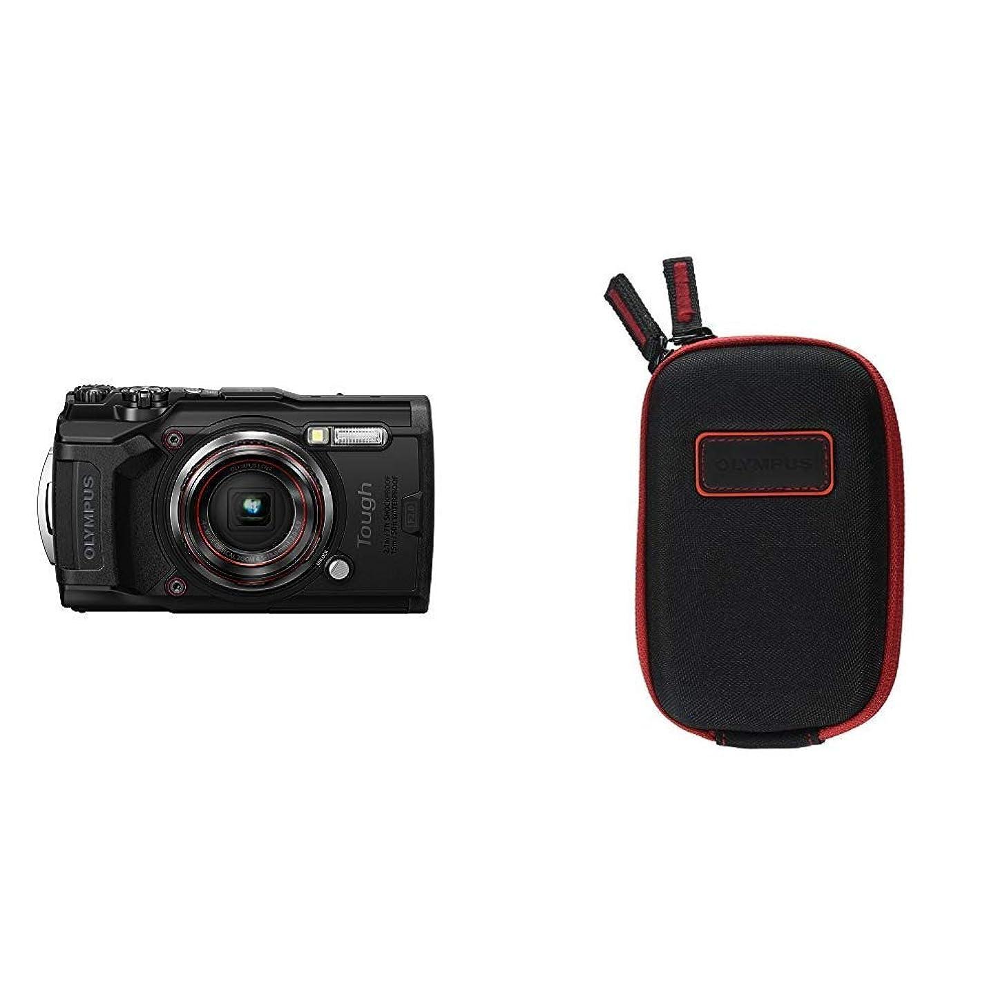 Olympus Tough TG-6 Waterproof Camera, Black w/ Olympus CSCH-107 Hard Case