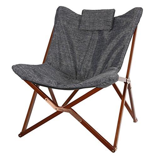 Sillón (95x 73x 83estructura de madera plegable mariposa Sillón gris silla