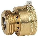 Homewerks Worldwide VACBFPZ4B Vacuum Breaker Hose Bib Backflow Preventer, 3/4 Inch, Brass Finish