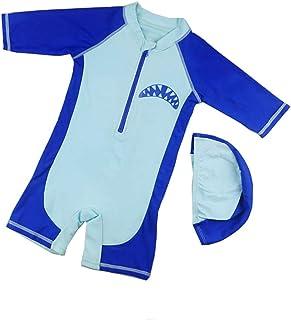 男の子の水着 子供用の水着 ボーイズ水着 ビッグボーイサーフィンスーツ 水着水着 (サイズ : L)