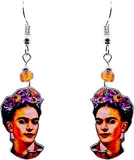 Frida Kahlo Famous Artist Head Dangle Earrings