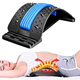 Back Stretcher, Lumbar Back Pain Relief Device,Adjustable Pain Relief Back Massager Posture Corrector Back Stretching Treatment for Spinal Stenosis Herniated Disc,Sciatica,Scoliosis