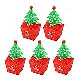 PJRYC Feliz Navidad Bolso de Regalo Santa Saco Bolso Bolso Árbol de Navidad Elk Navidad Navidad Caja de Caramelo Año Nuevo Embalaje Bolsa (Color : Chocolate)