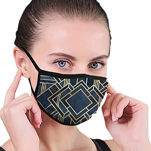 Art Deco Fancy Blue Mouth Mask Fashion Gesichtsmaske für Männer und Frauen, Jungen und Mädchen