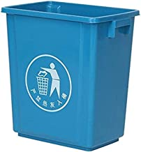 ZXJshyp Outdoor Commercial Large Trash Can Recycling Bin Ultra-Thin Kitchen Trash Can Intimate Sign Trash Can (Color : Blu...