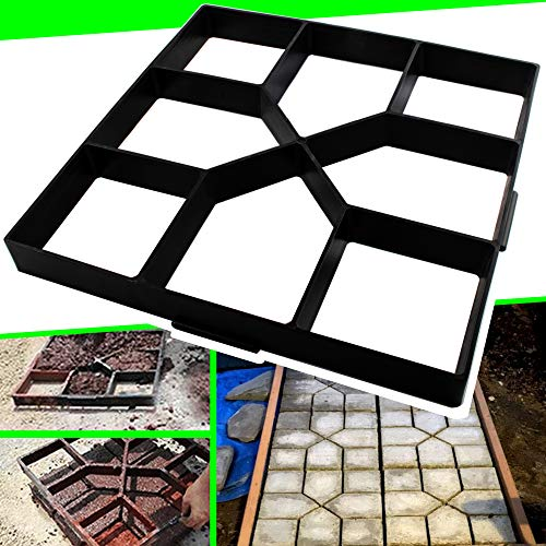 15.7'x15.7'x1.57' Walk Maker Reusable Concrete Path Maker Molds Stepping Stone Paver Yard Patio Lawn Garden DIY Walkway Pavement Paving Moulds (Cross Square)